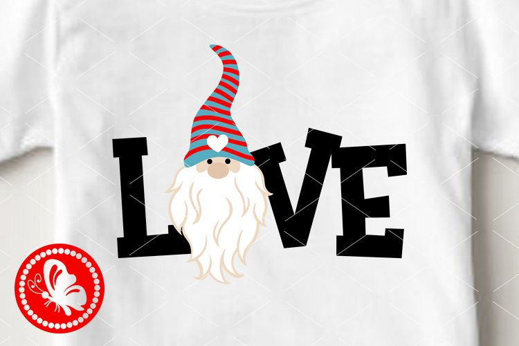 Love sign clip art Gnome face svg Valentines day decor example image 1