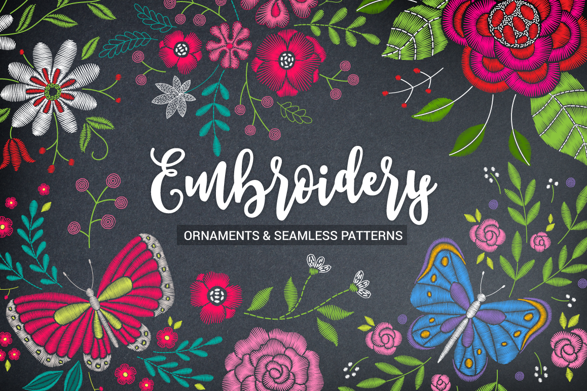 Huge Embroidery Bundle example image 1
