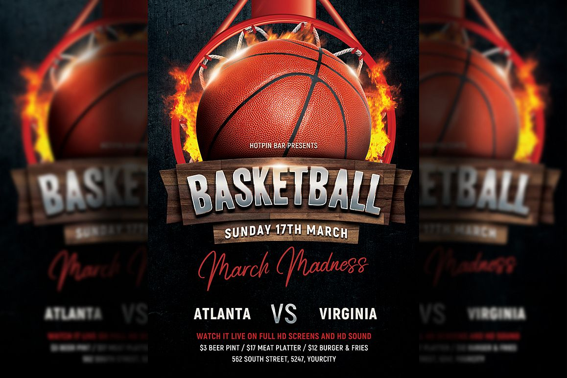 Basketball Flyer Template example image 1