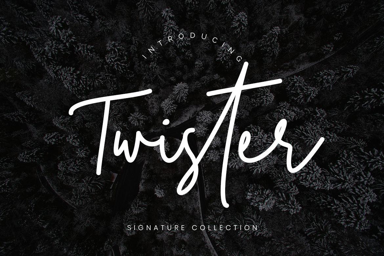 Twister Handwritten Script example image 1