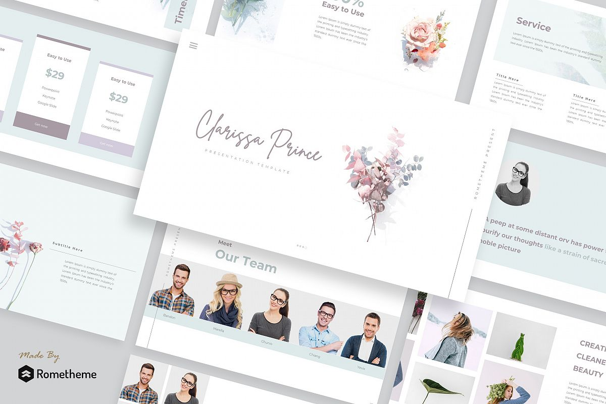 Clarissa Prince - Powerpoint Template example image 1