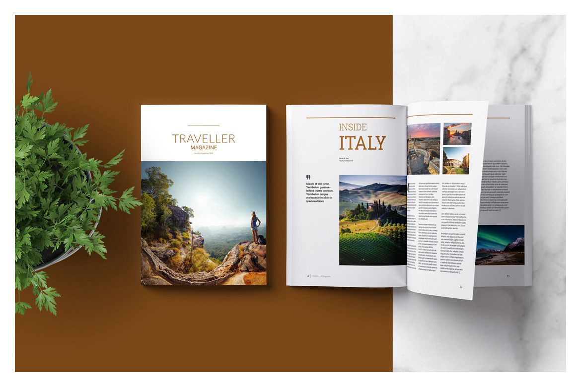Indesign Magazine Template example image 1