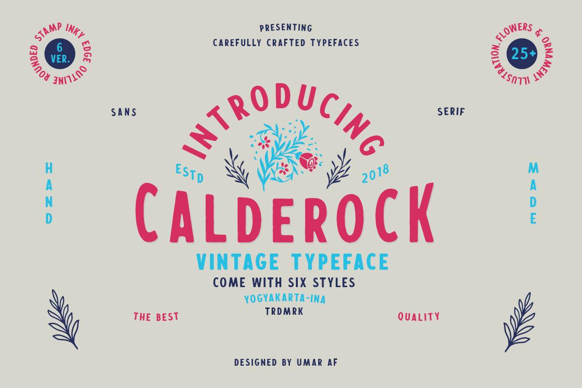 Calderock Typeface Extras  example image 1