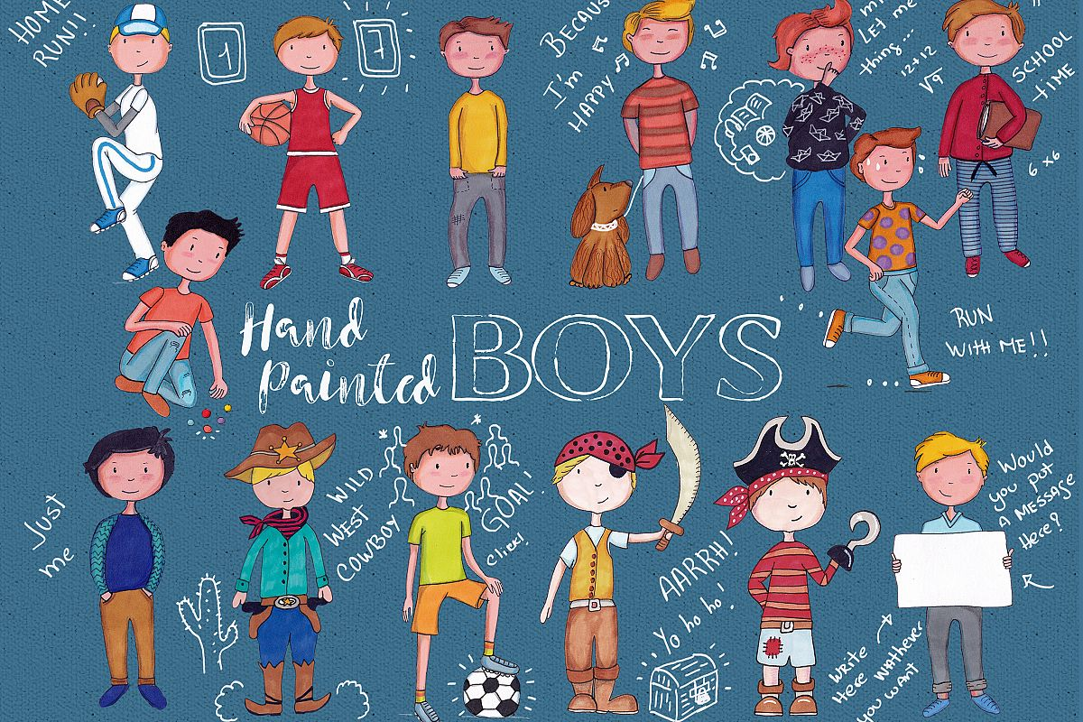 Boys hand painted example image 1