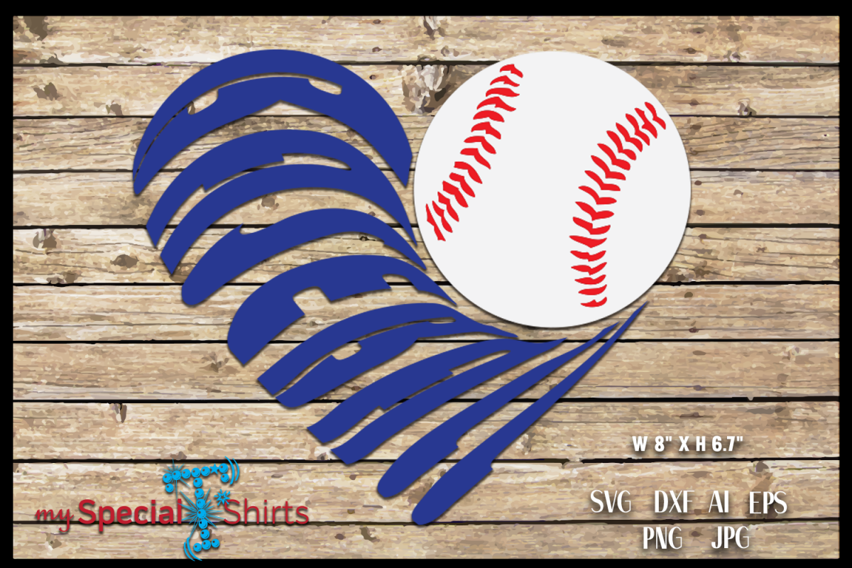 Baseball Heart Cut Out SVG, DFX, EPS, JPG, PNG example image 1