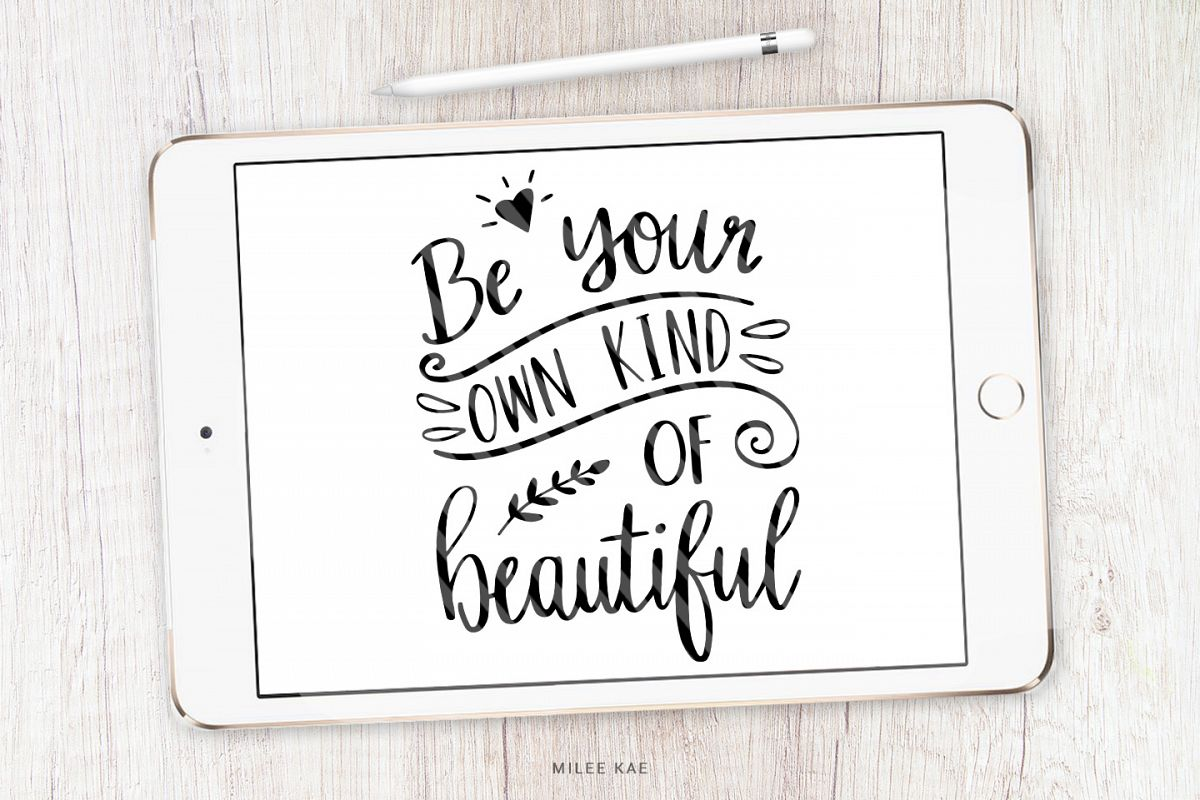 Inspirational Quote SVG, Cutting file, Decal example image 1