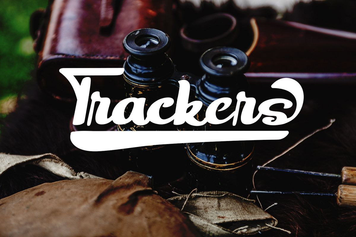 Trackers- Bold Script Font example image 1