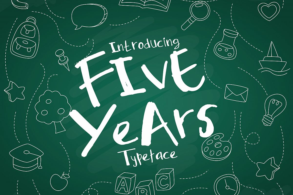 Five Years Typeface example image 1
