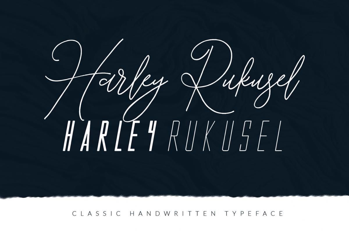 Harley Rukusel | Font Trio example image 1
