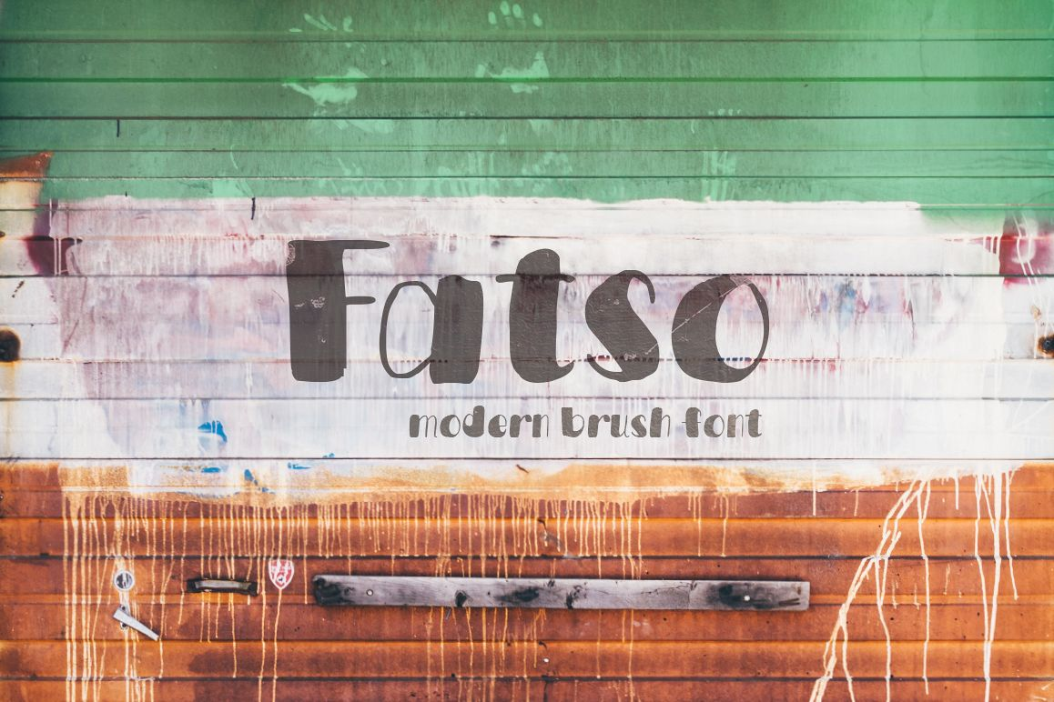 Fatso—handwritten font example image 1