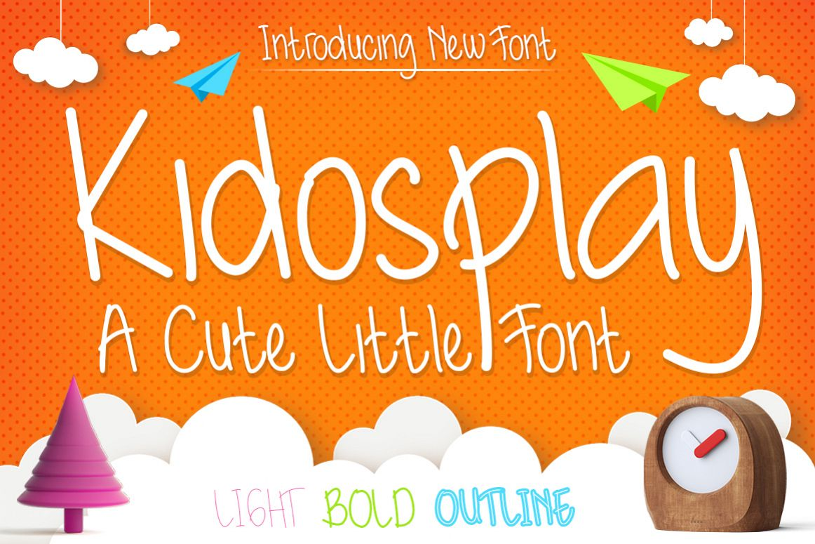 Kidosplay - Playful Font Family example image 1