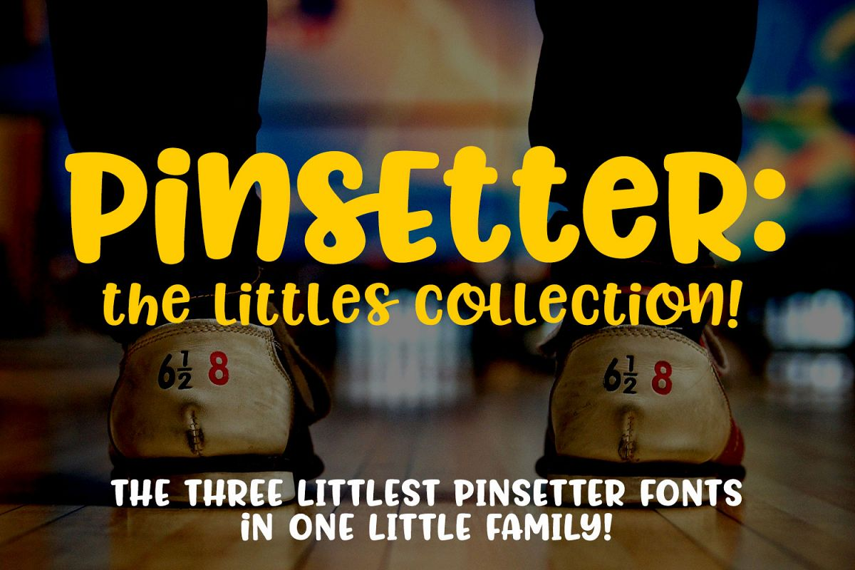Pinsetter - The Littles Collection - three cute little fonts example image 1