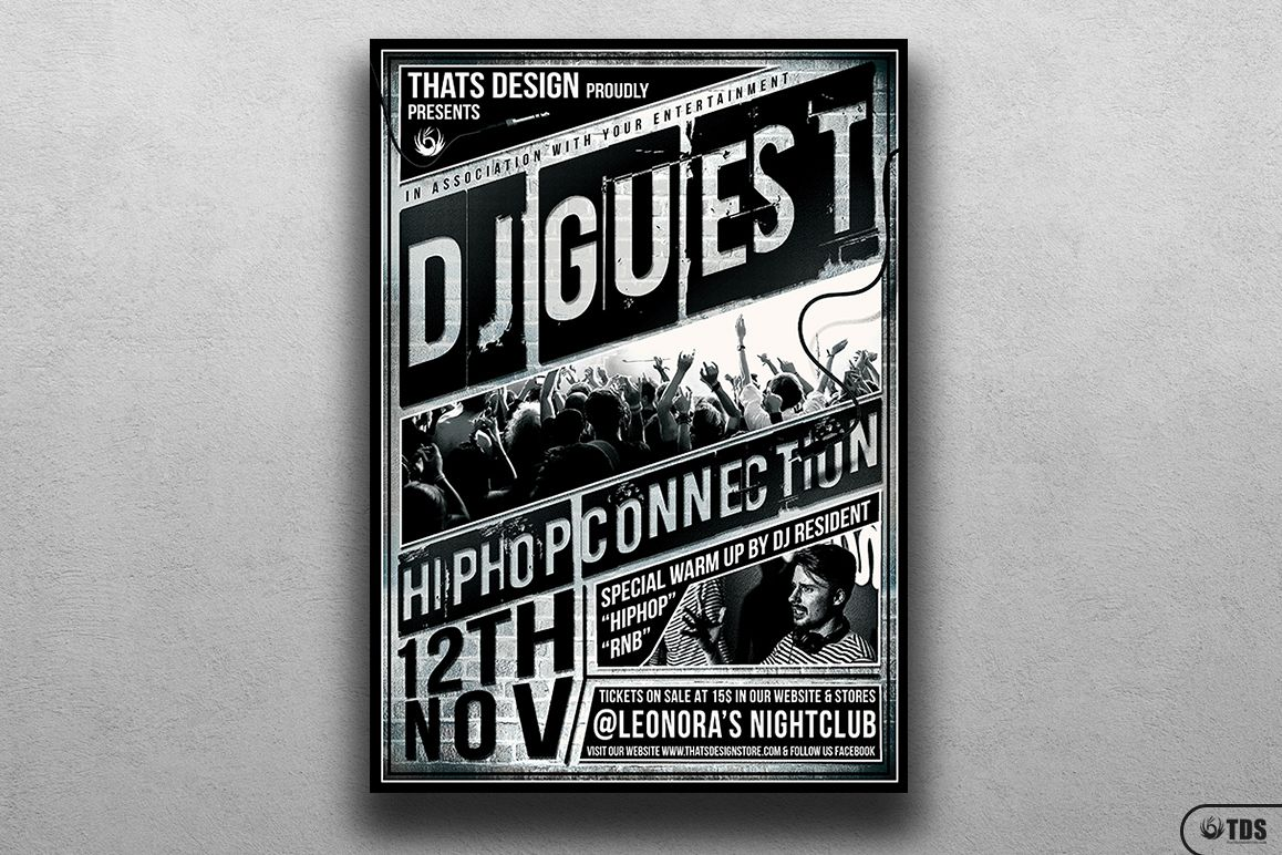 DJ Guest Flyer Template V2 example image 1