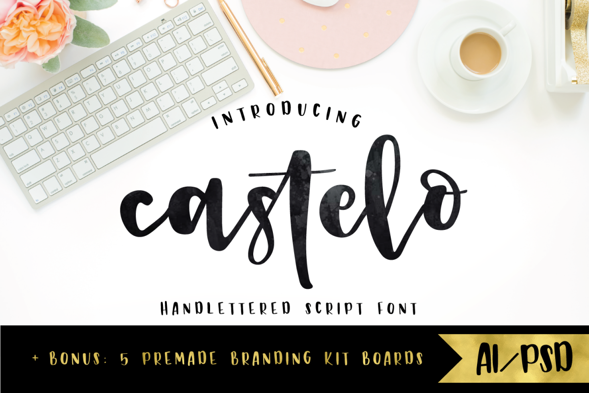 Castelo Script + 5 Branding Boards example image 1