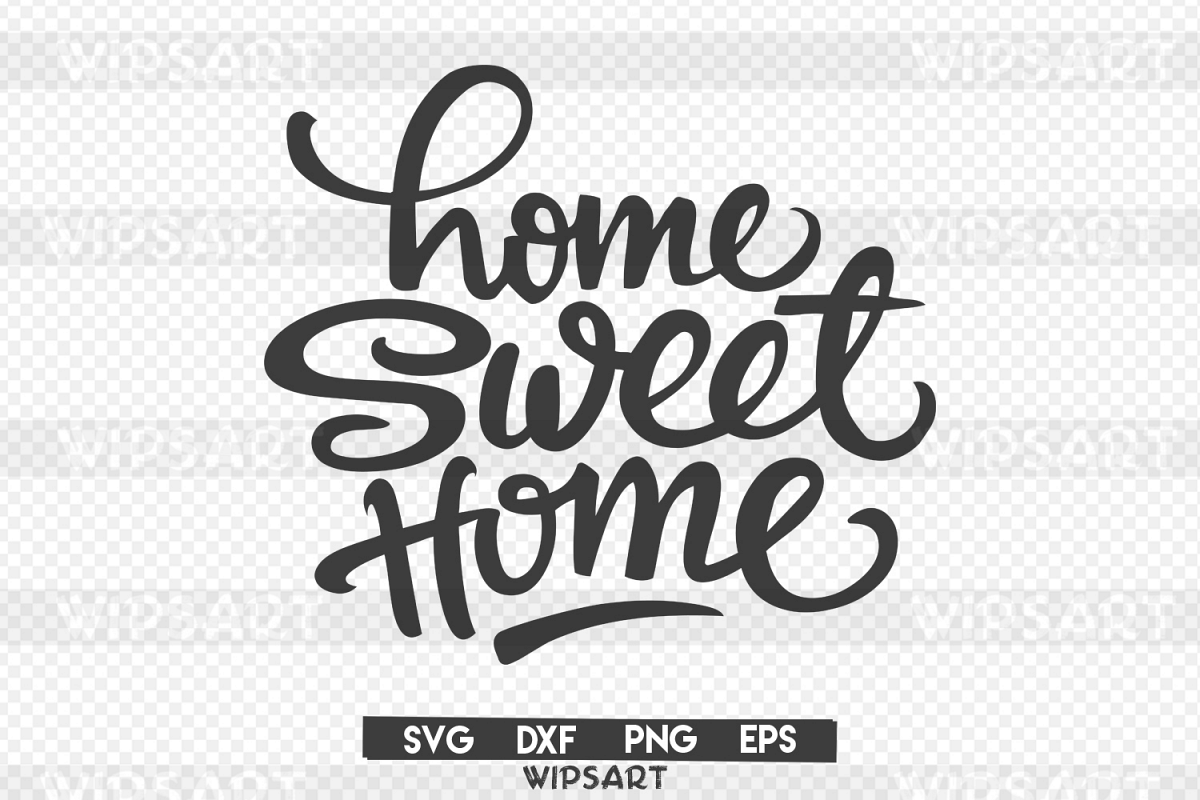 SALE! Home sweet home svg, home sweet home silhouette example image 1