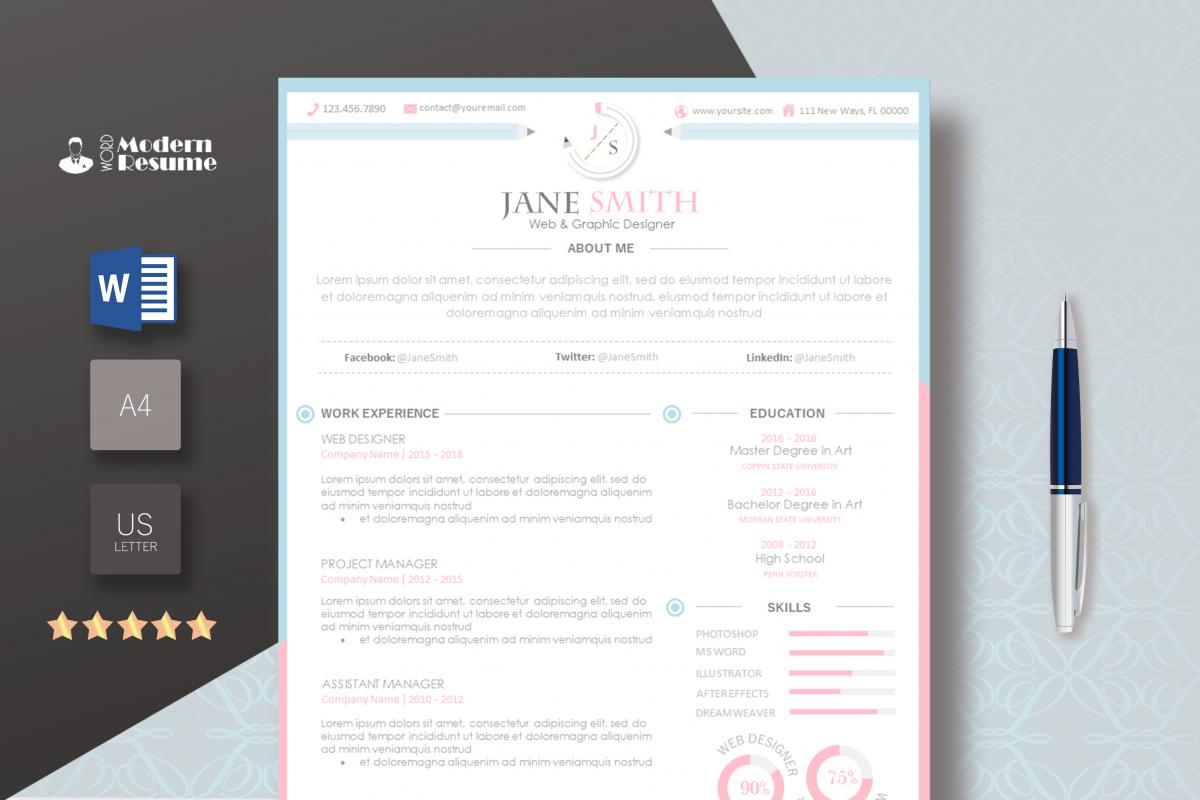 resume template pinkwhite update resume cv template 1 page clean resume