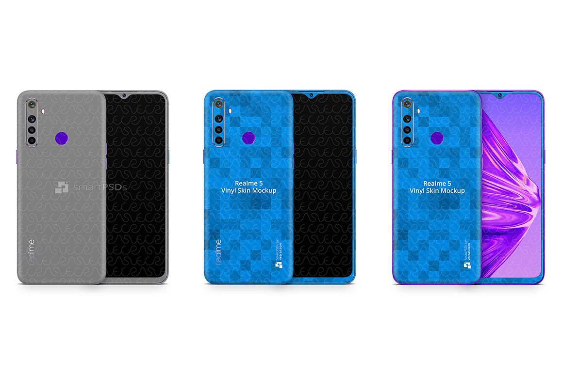 Realme 5 2019 PSD Skin Mockup Template example image 1