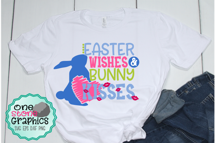 Easter wishes and bunny kisses svg,Easter svg,Easter svgs example image 1