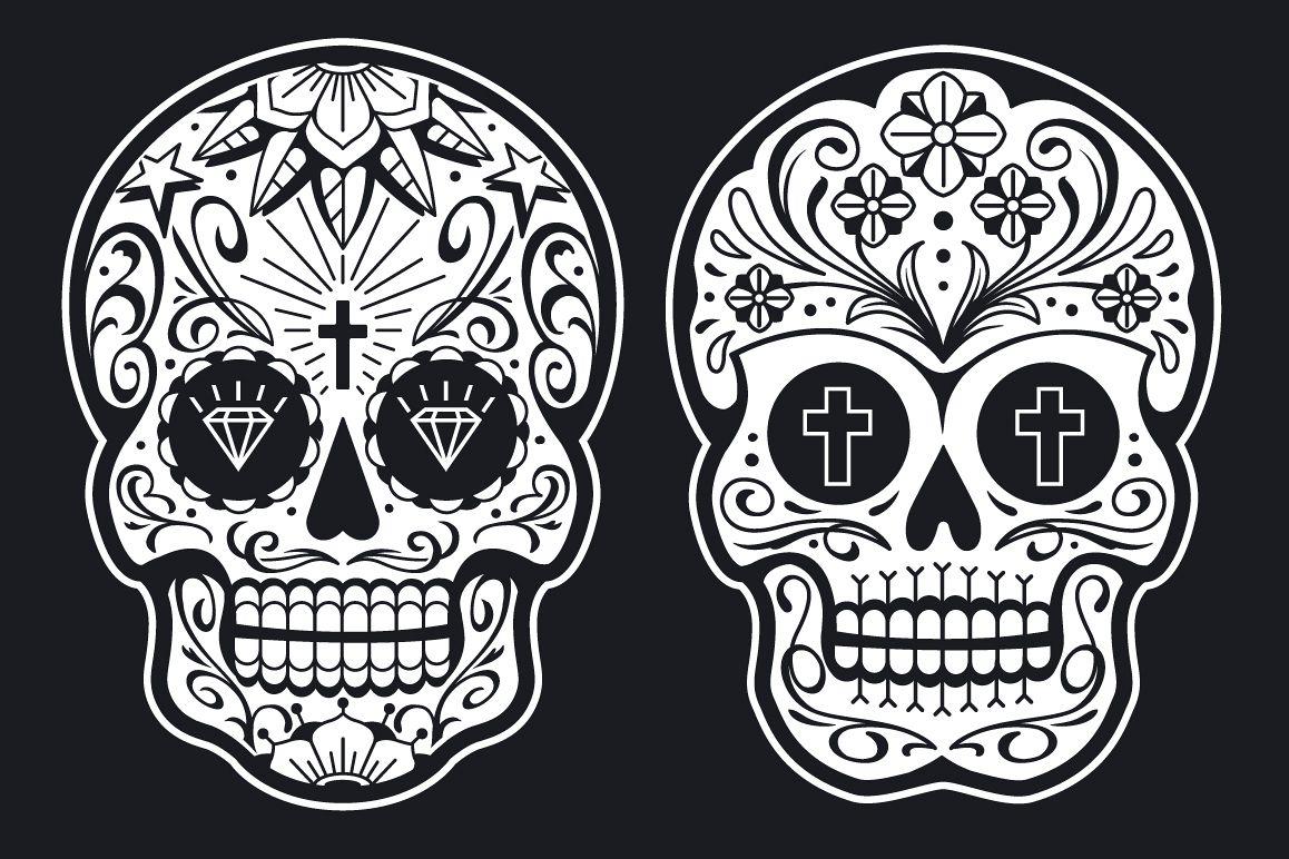 Vector Mexican Sugar Skulls example image 1