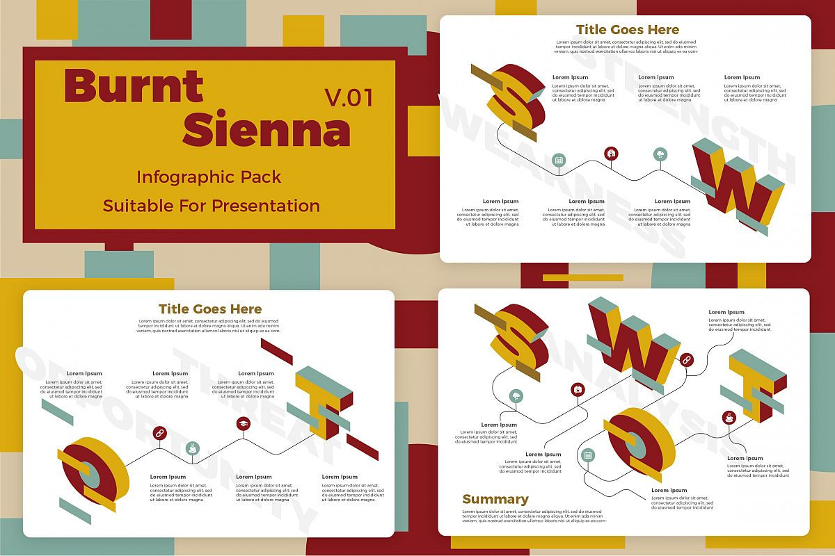 Burnt Sienna v1 - Infographic example image 1