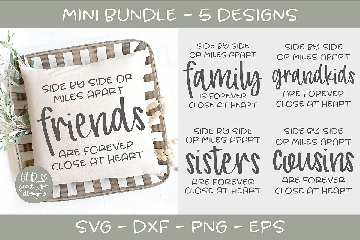 Side By Side Mini Bundle - 5 Designs example image 1