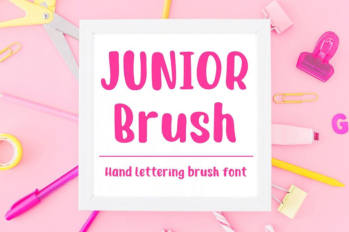 Junior Brush - Handwritten Brush Font example image 1
