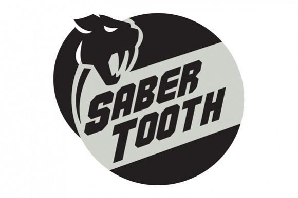Saber Tooth Tiger Cat Head Circle Retro example image 1
