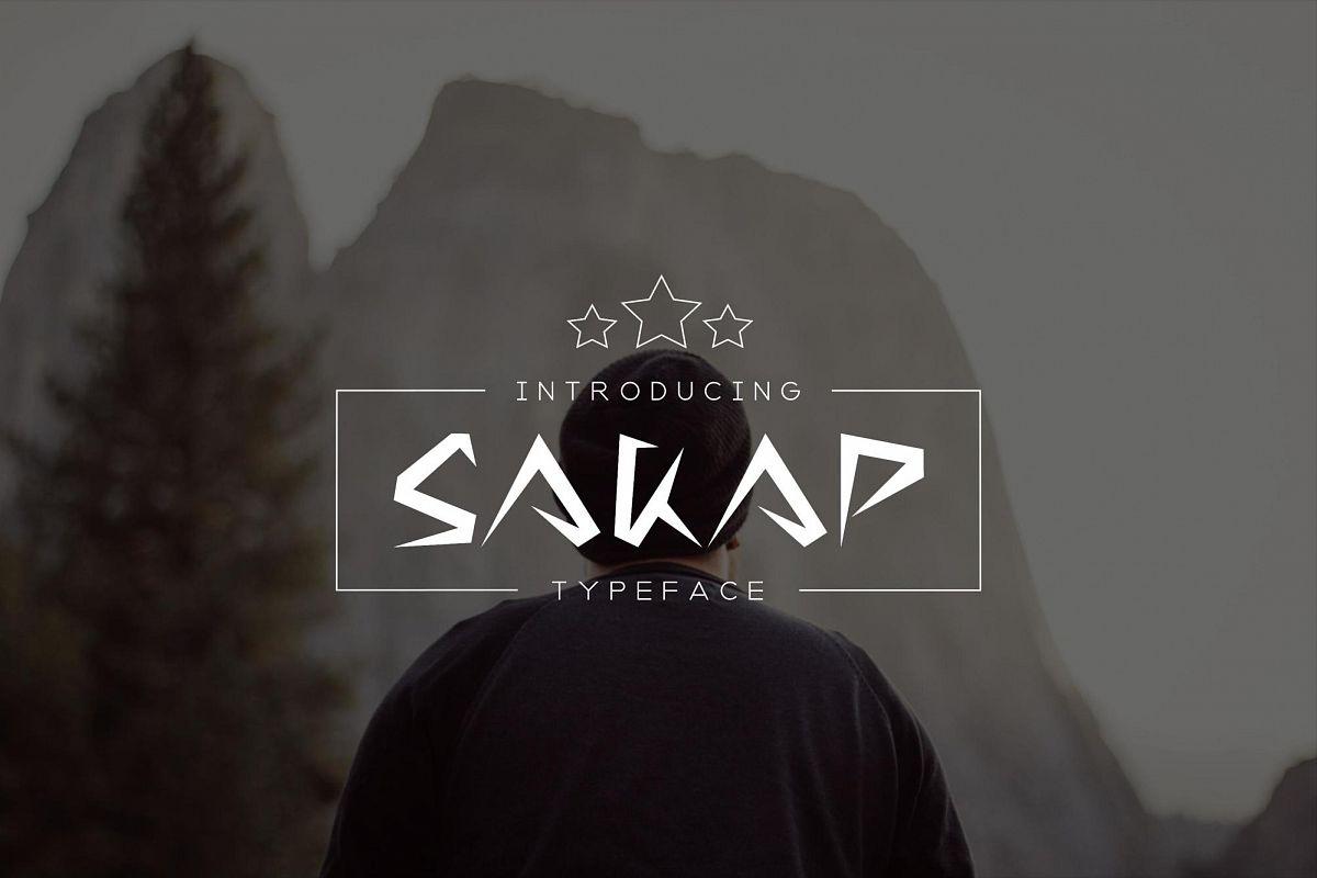 Sakap Typeface Font example image 1