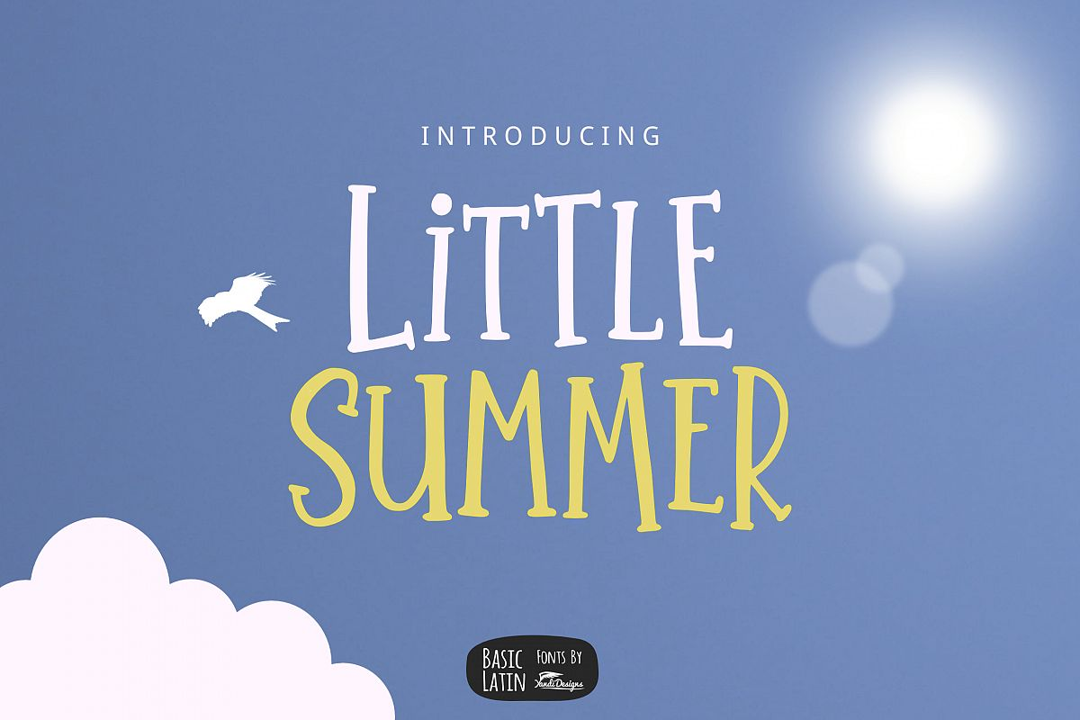 Little Summer Cute Font example image 1