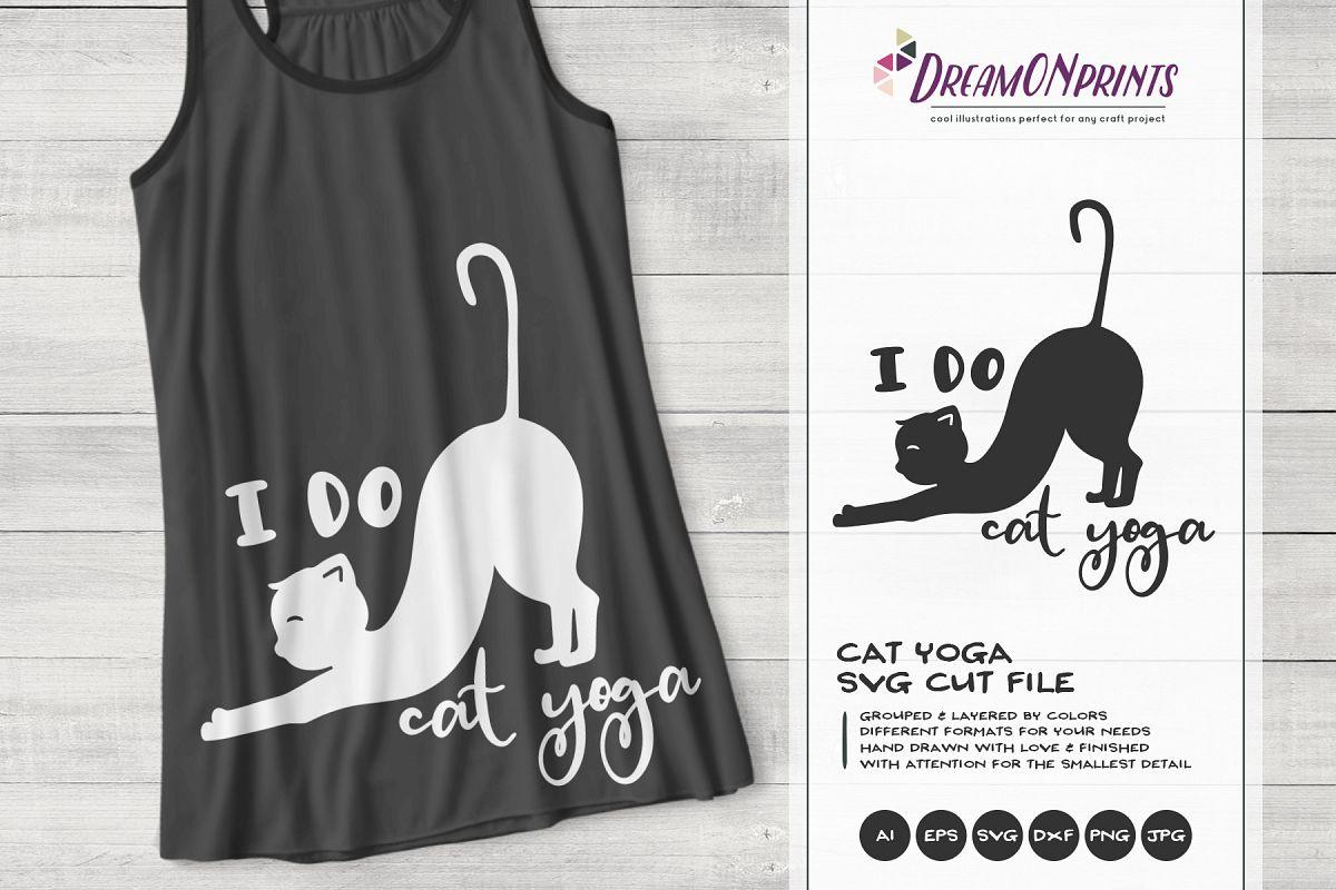 Cat Yoga SVG | Yoga Shirt Design example image 1