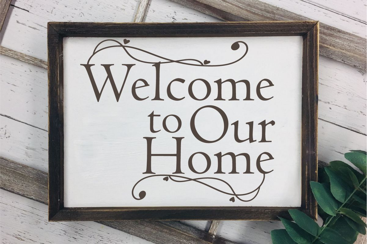 Welcome To Our Home SVG Sublimation, Welcome Home example image 1