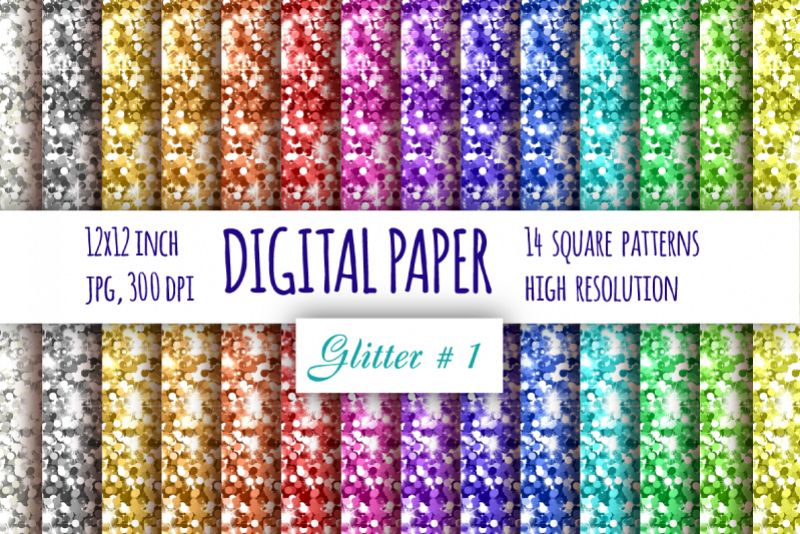 Glitter digital paper. Abstract background example image 1