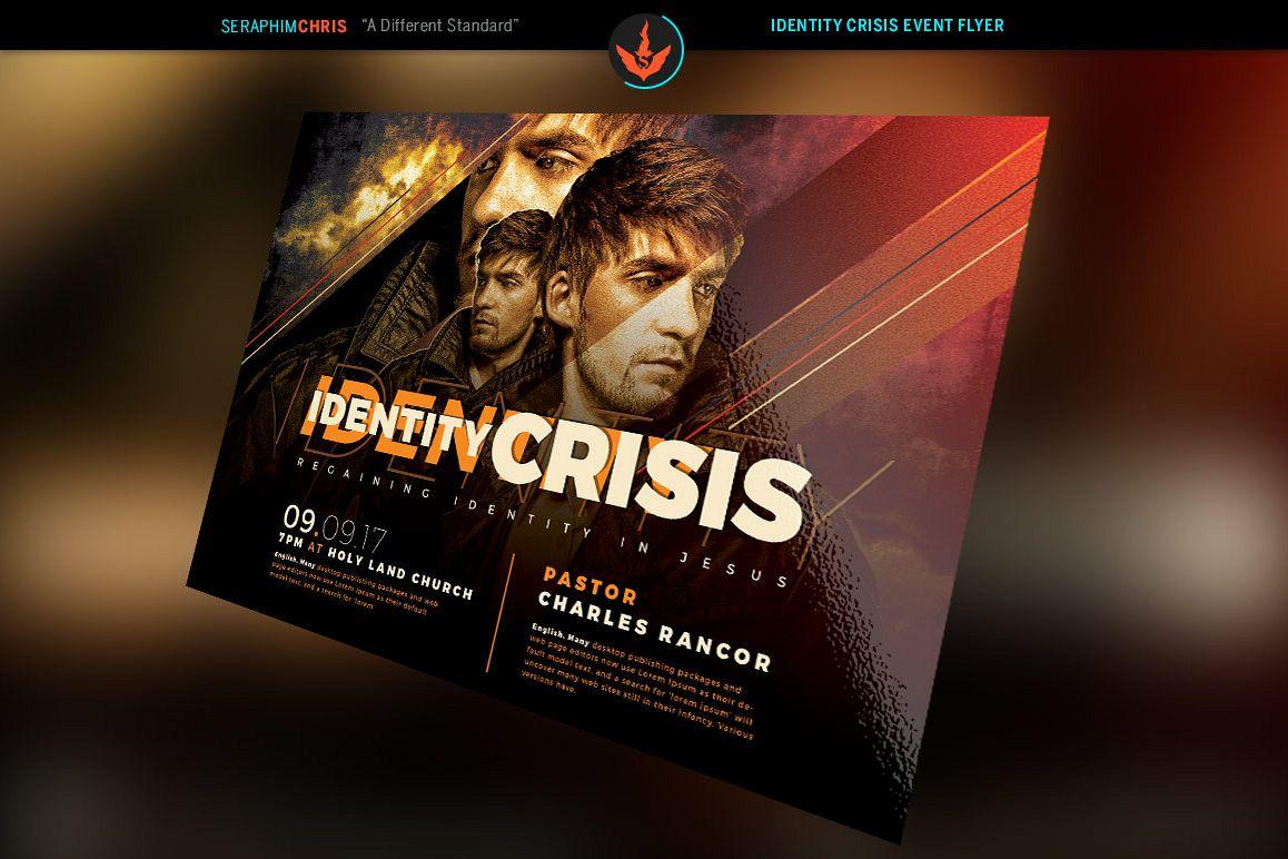Identity Crisis Church Flyer Photoshop Design Bundles
