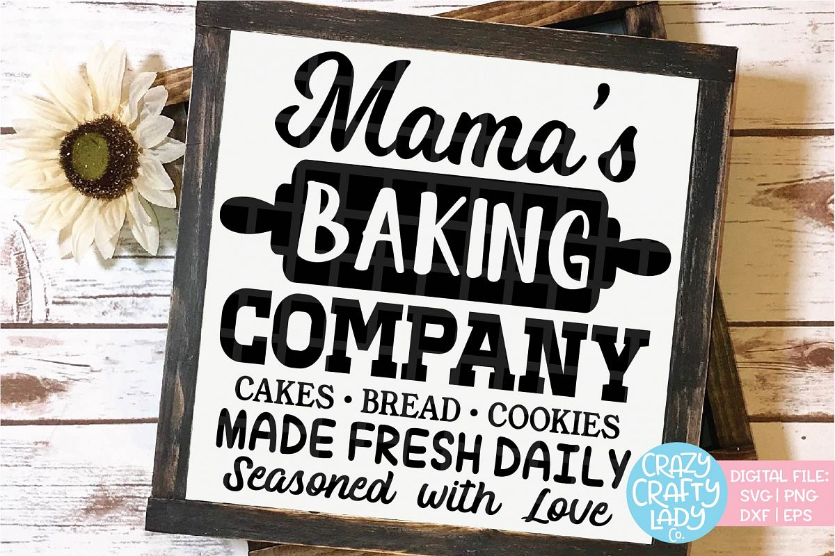 Mama's Baking Company SVG DXF EPS PNG Cut File example image 1