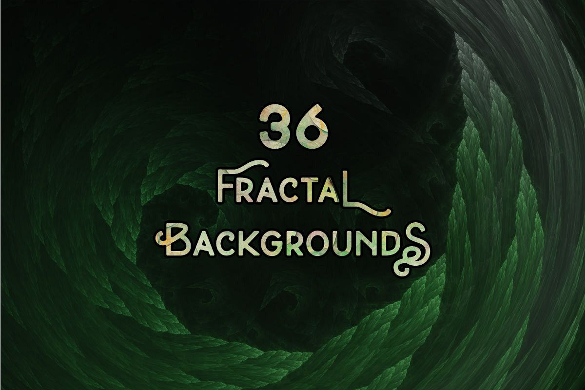 36 Abstract Fractal Backgrounds example image 1