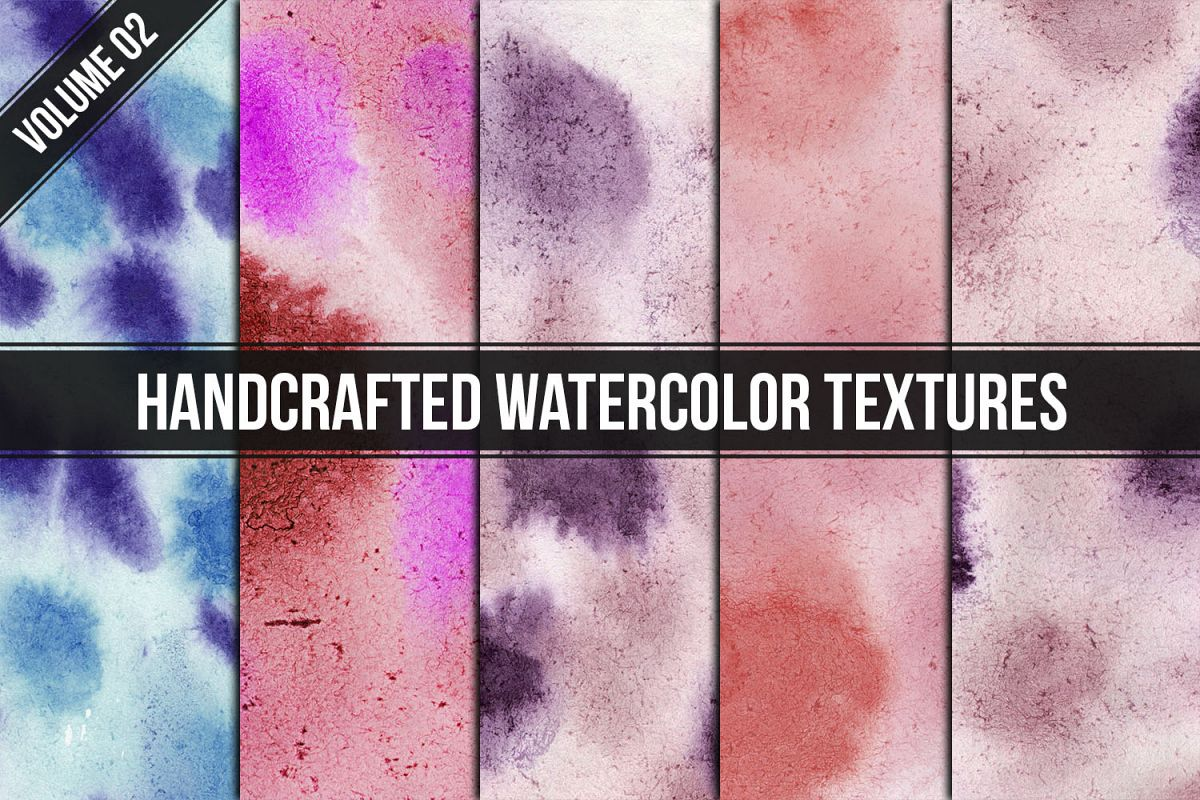Handcrafted Watercolor Textures Vol. 02 example image 1