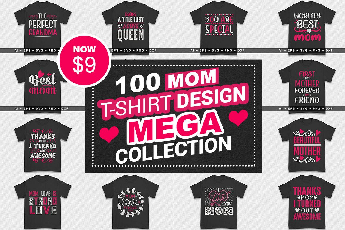 100 Mom Tshirt Design Mega Collection example image 1