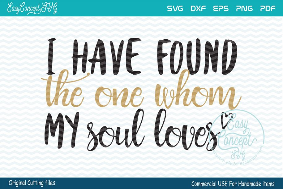 I have found the one whom my soul loves, example image 1