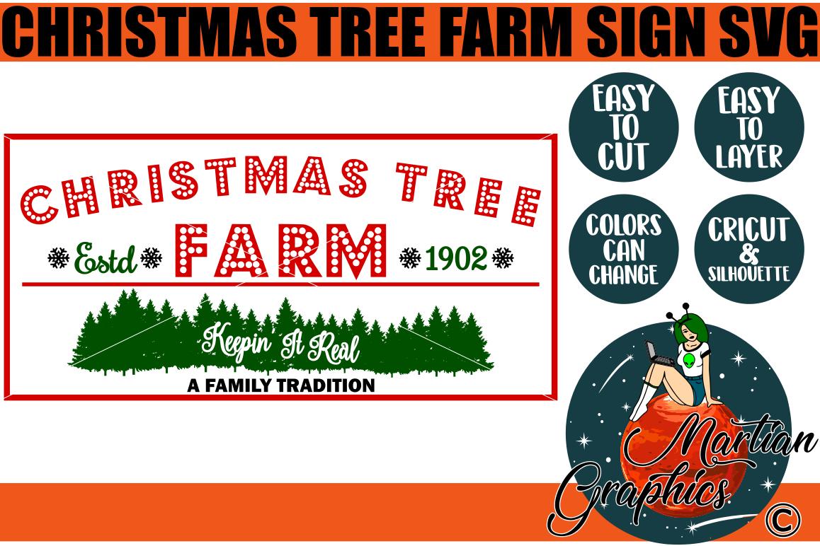 Christmas Tree Farm Sign A Christmas Svg