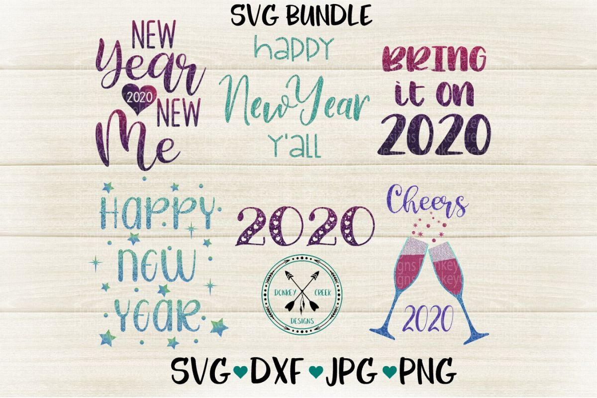 New Year's Eve SVG Bundle example image 1