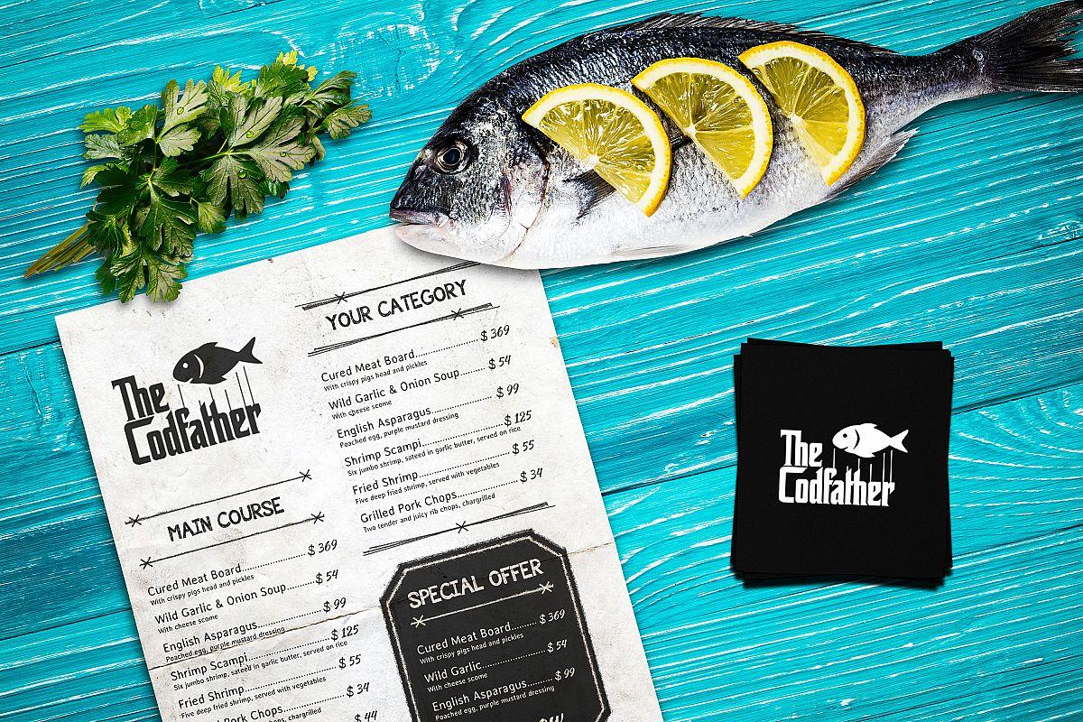 Seafood Mockup #16 example image 1
