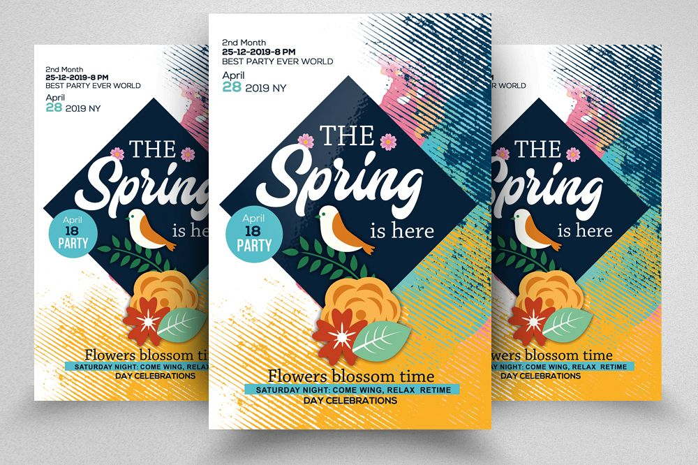 Spring Is Coming Flyer Template example image 1