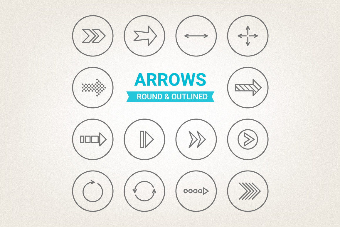 Circle Arrows Icons example image 1