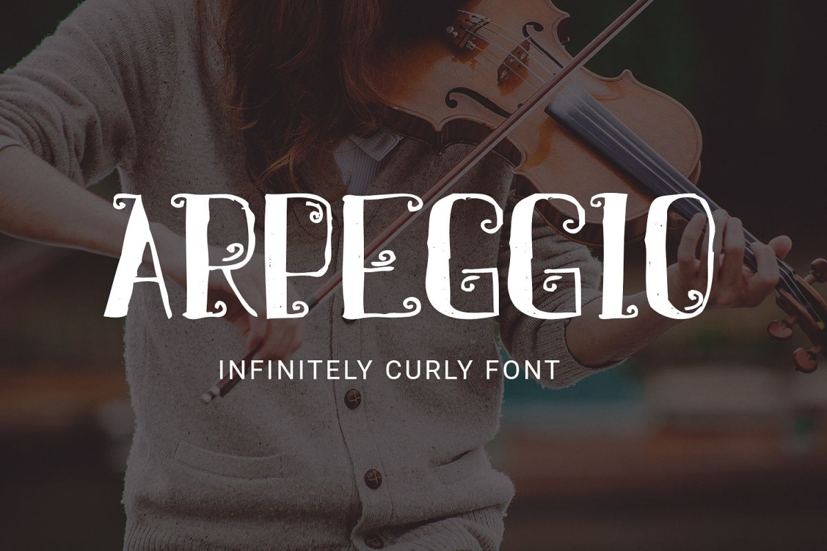 Arpeggio Curly Font example image 1