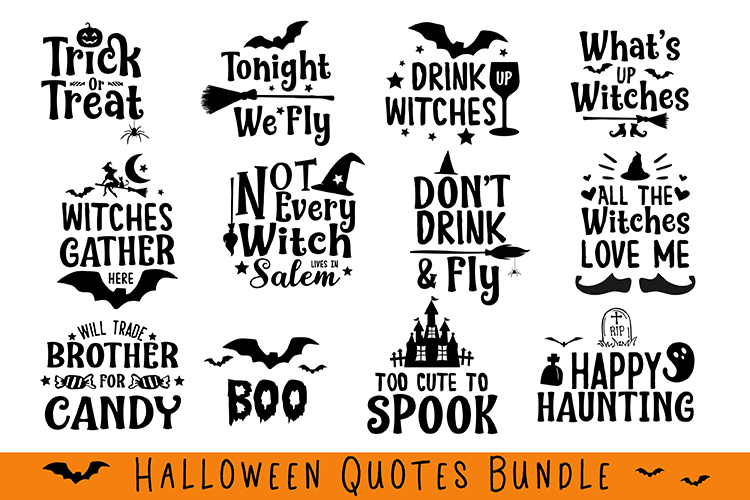 Halloween Quotes Bundle example image 1