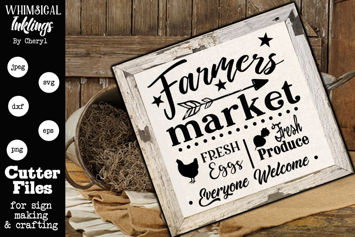 Farmers Market Everyone Welcome SVG example image 1
