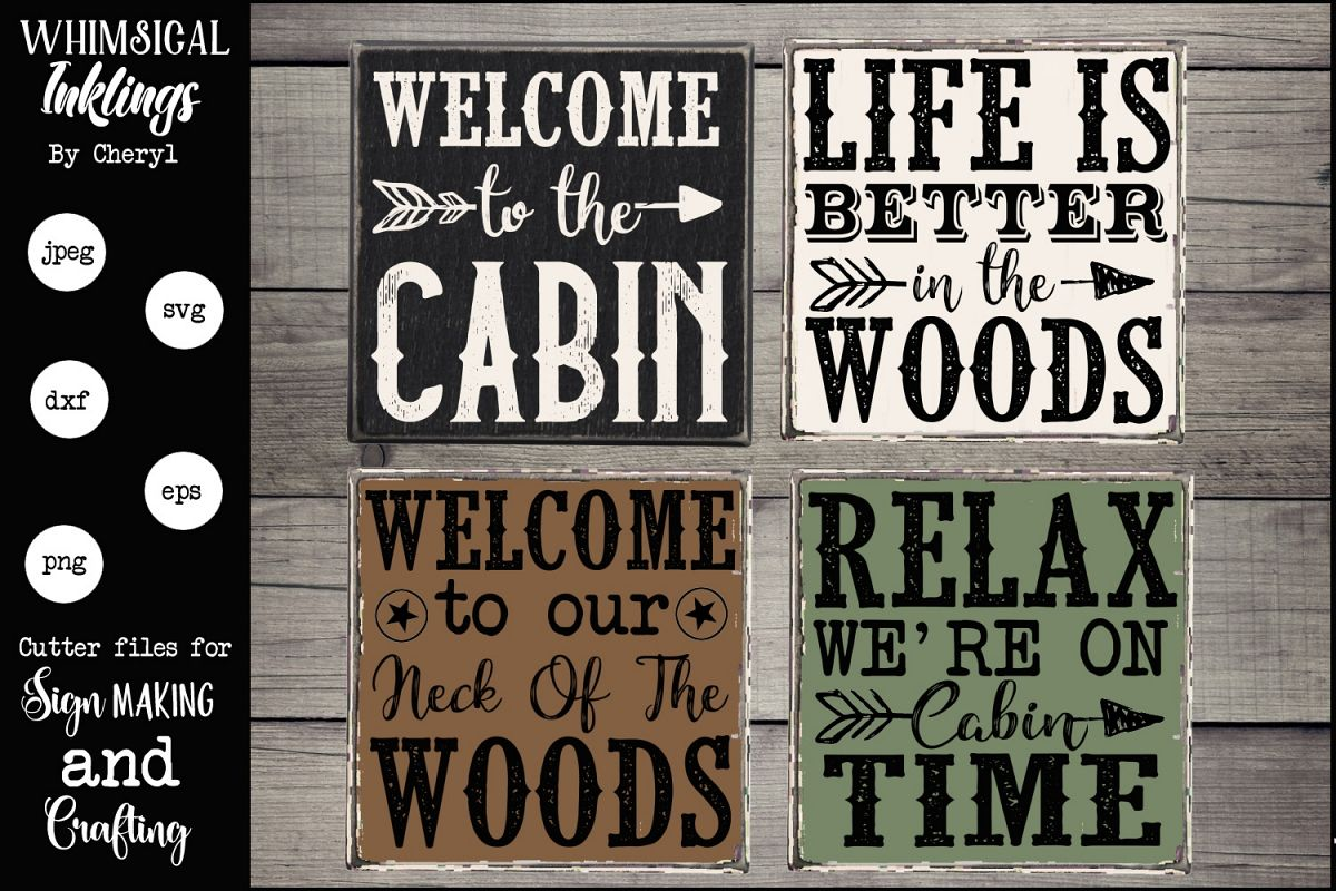 On Cabin Time SVG Magnet-Sign set example image 1