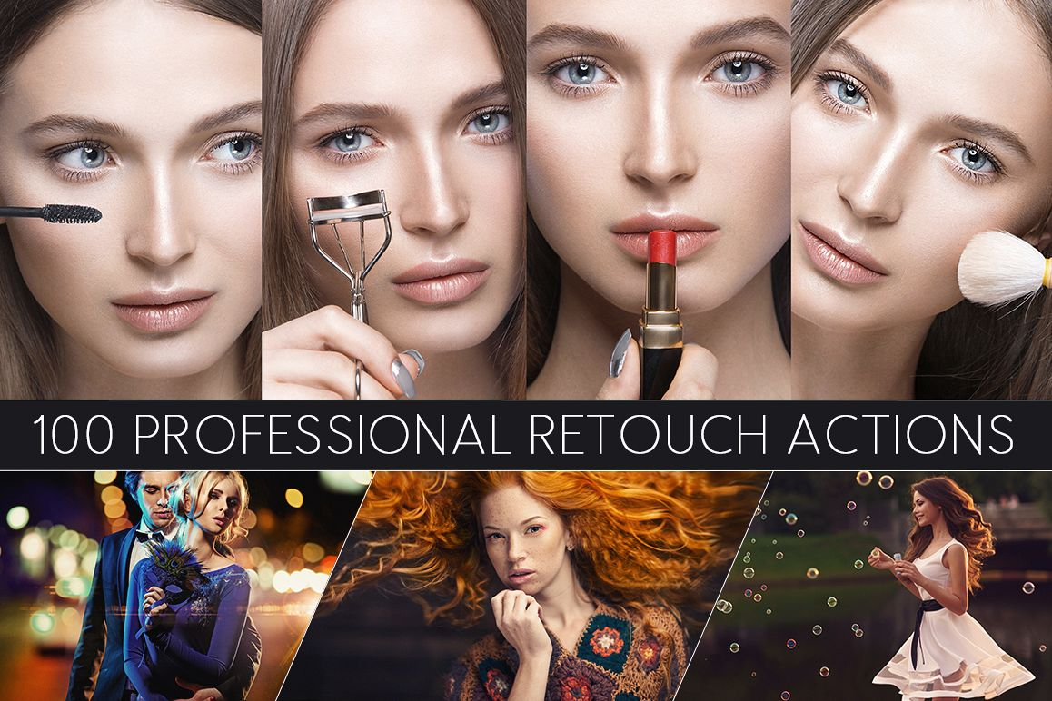 100 Professional Retouch Actions Free Download