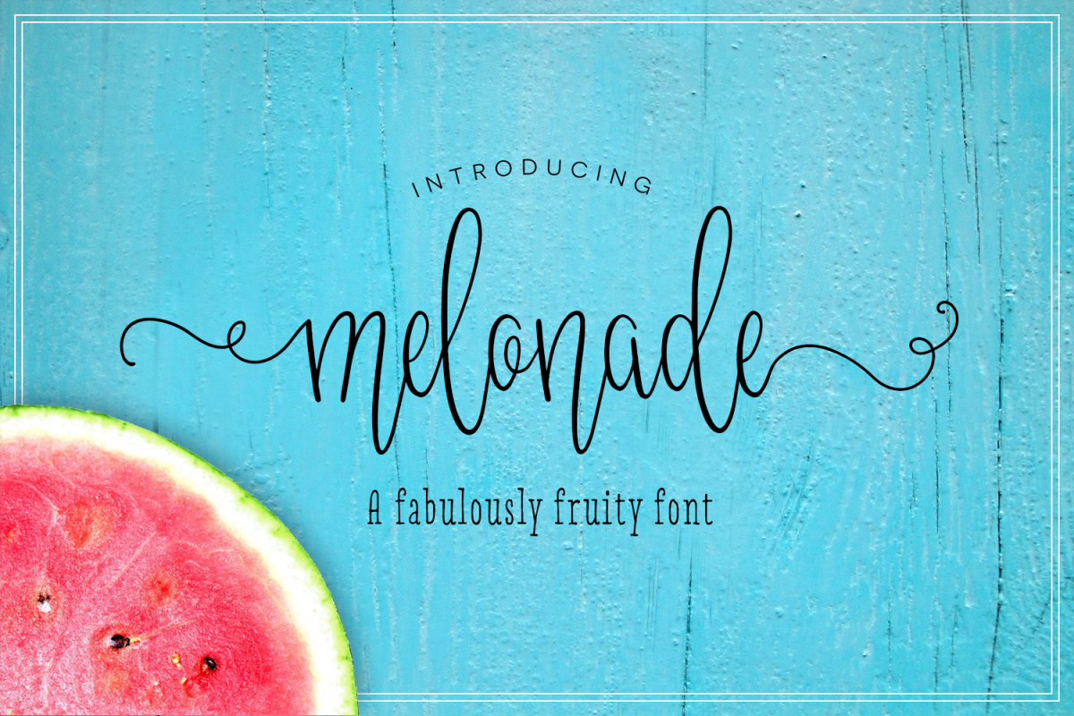 Melonade Font example image 1