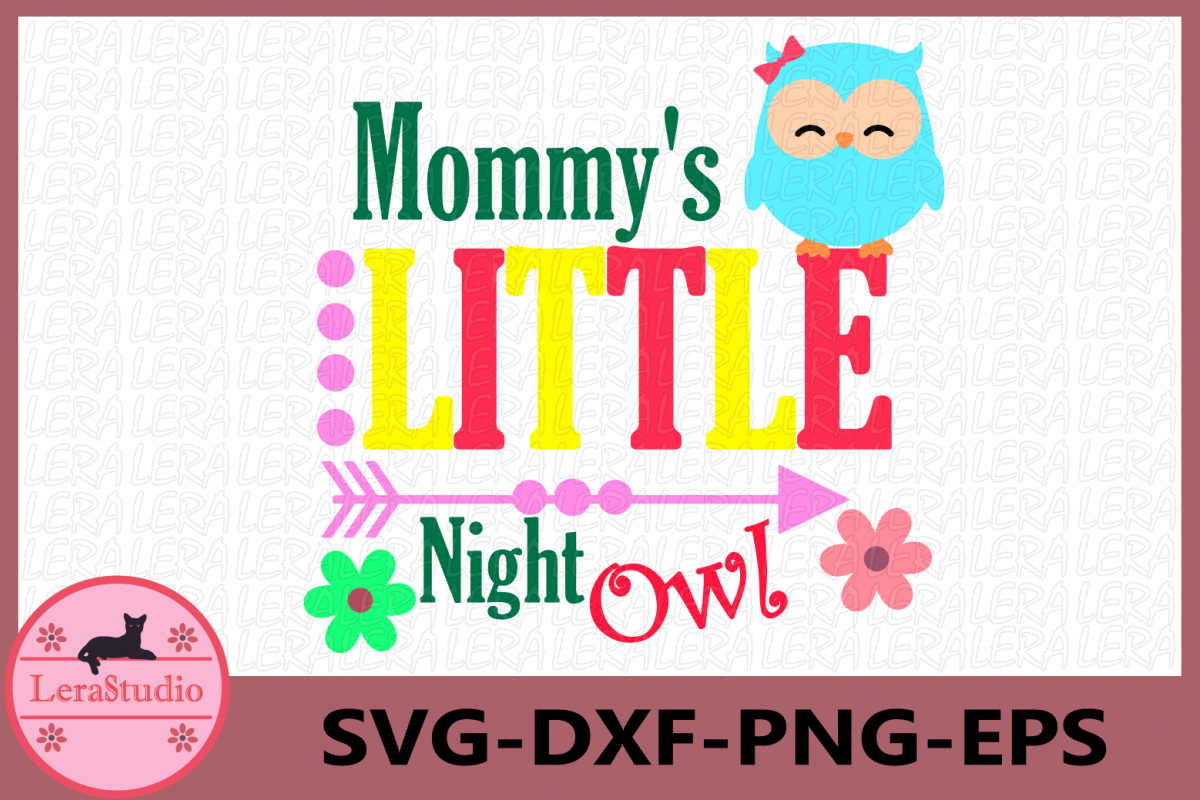 Mommy's Little Night Owl svg, Owl svg, Baby svg, Little Owl example image 1